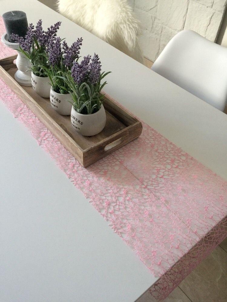 Delightful Tischläufer Weiß Tischdecke Ostern Deko Decke Tisch Läufer Spitze Landhaus  Neu | EBay