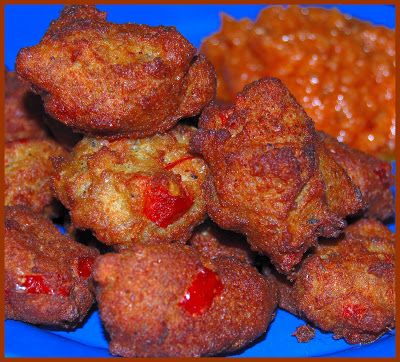 Black Eyed Pea Fritters From Bryant Terry Vegan Soul Food Roasted Sweet Potatoes Pea Fritters