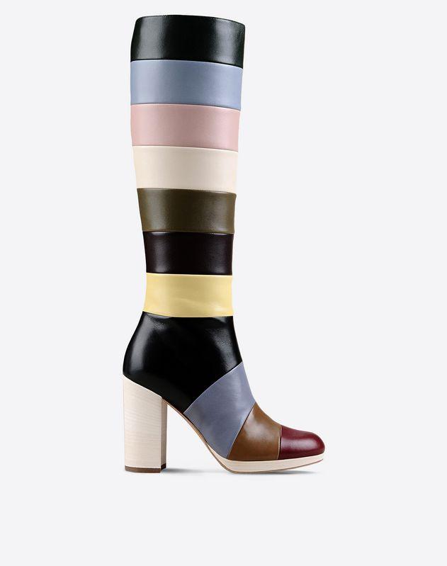 Women's Striped Boot Valentino Garavani   Valentino Online Boutique US