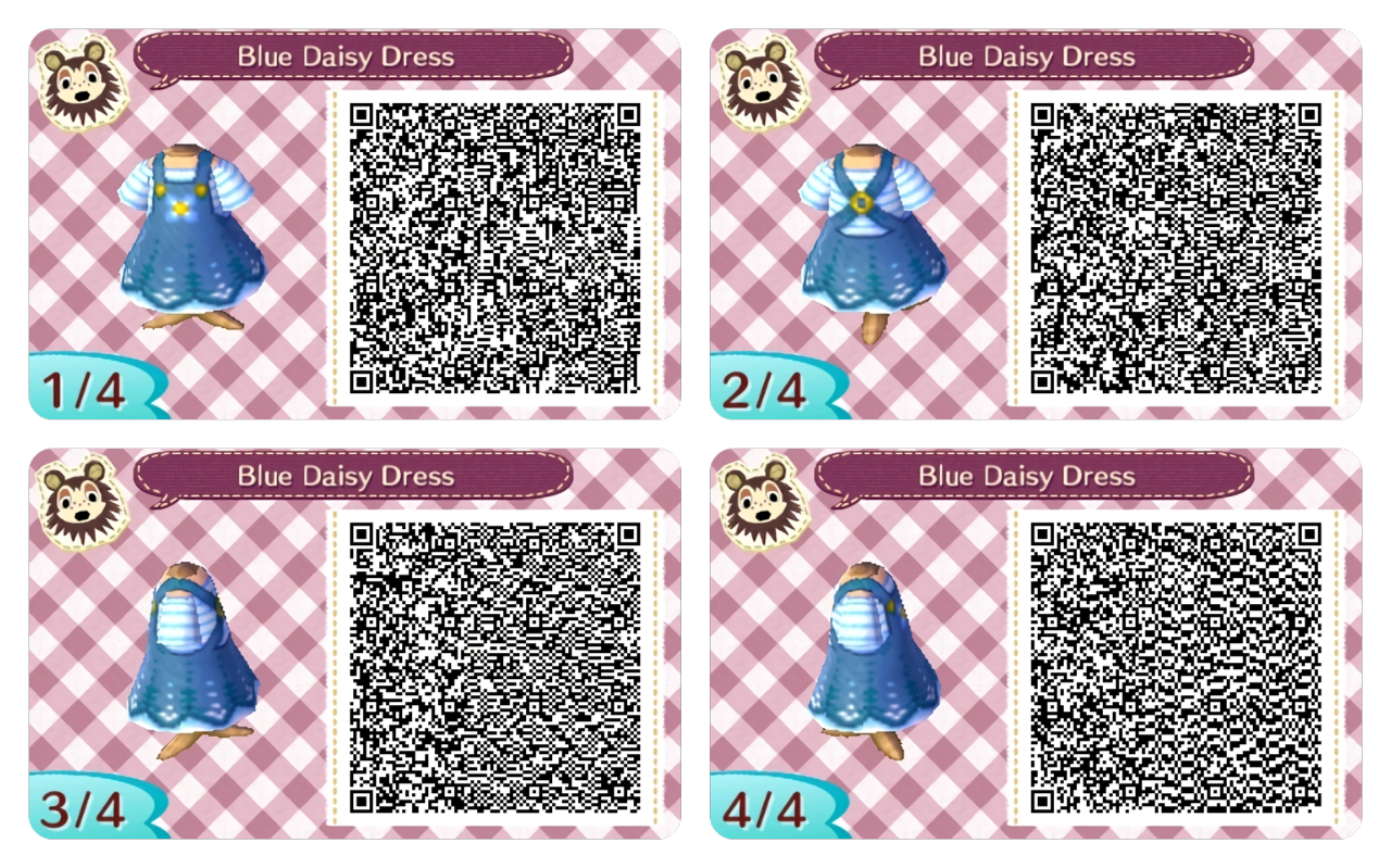 Blue dress qr code