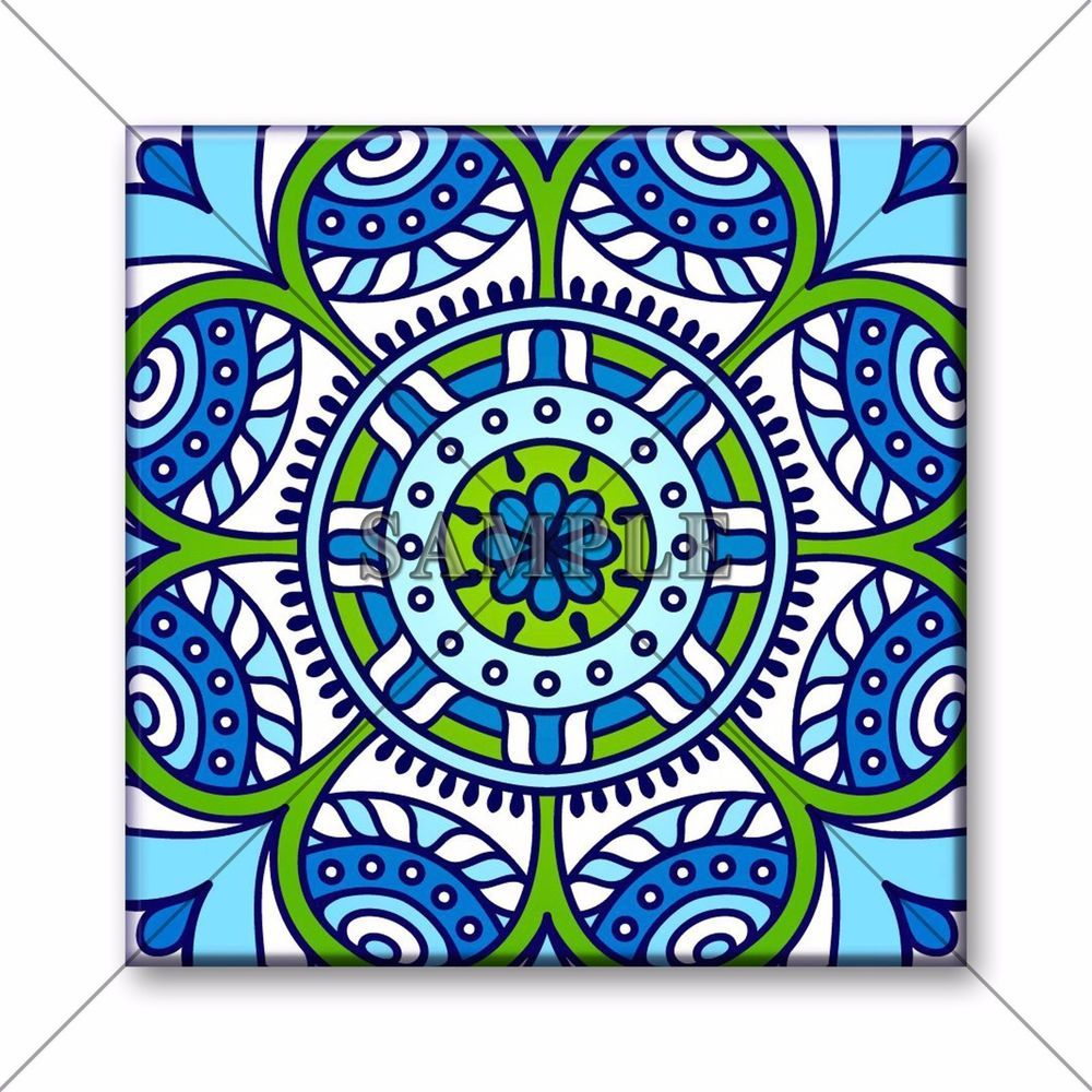 Ceramic Tile - Moroccan Tile Design Medallion Backsplash Kitchen ...