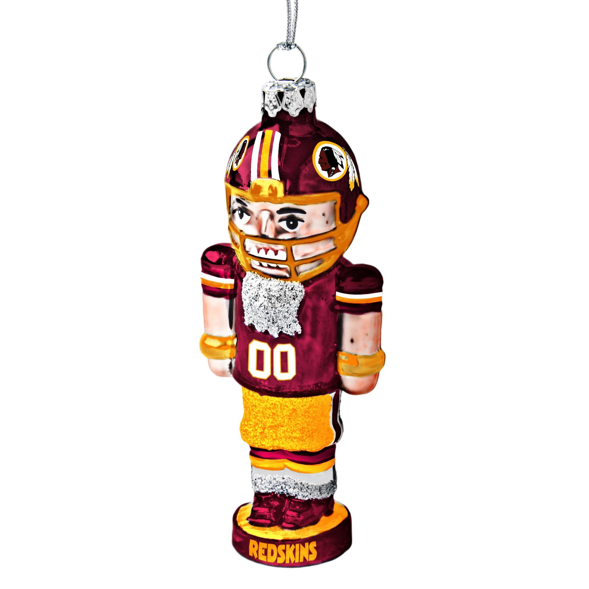 Washington Redskins Glass Nutcracker Ornament Redskins