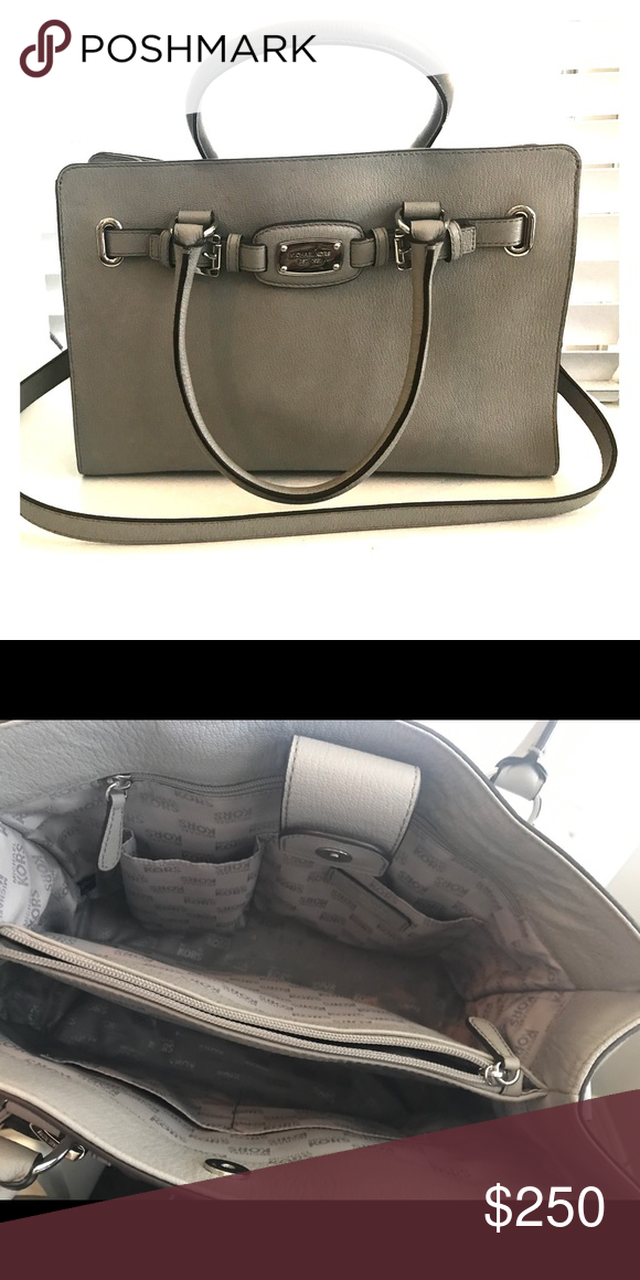 ae0edc38c26ec8 Michael Kors Gray Leather Tote This gorgeous soft pebbles leather tote is  perfect year round! In EUC. Only worn a few times. Michael Kors Bags Totes