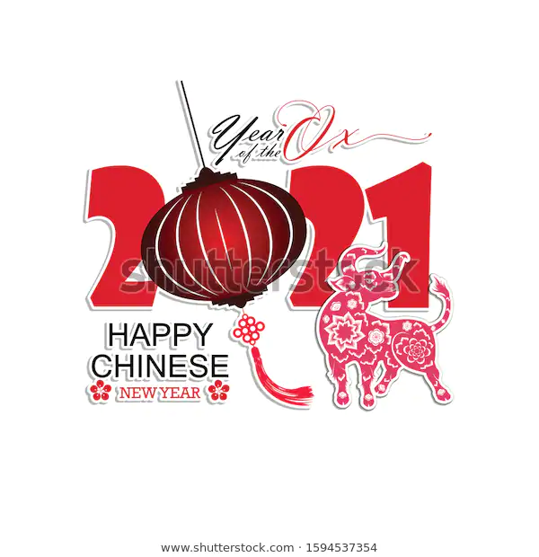 Happy Chinese New Year 2021 Year Stock Vector (Royalty