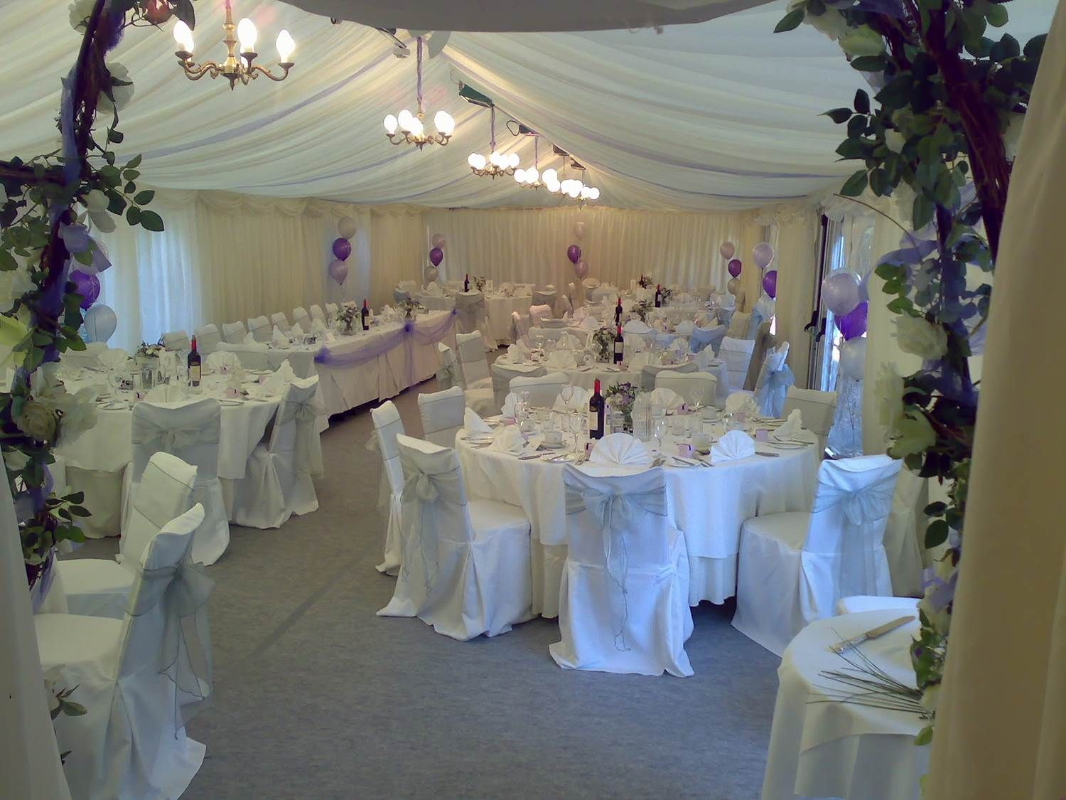 Lilac And Silver Wedding Theme In Marquee For 78 Baby Seestors