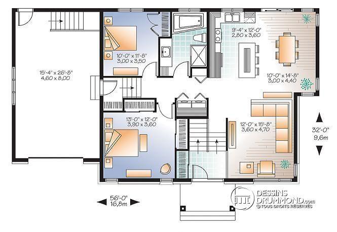 plan de maison unifamiliale lotus 3 no 3128 v2 maisons pinterest maison plan maison et. Black Bedroom Furniture Sets. Home Design Ideas