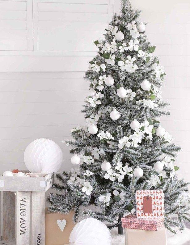 Albero Di Natale Bianco.Albero Di Natale Bianco Alberi Di Natale Con La Neve Albero Di Natale Bianco Idee Per L Albero Di Natale