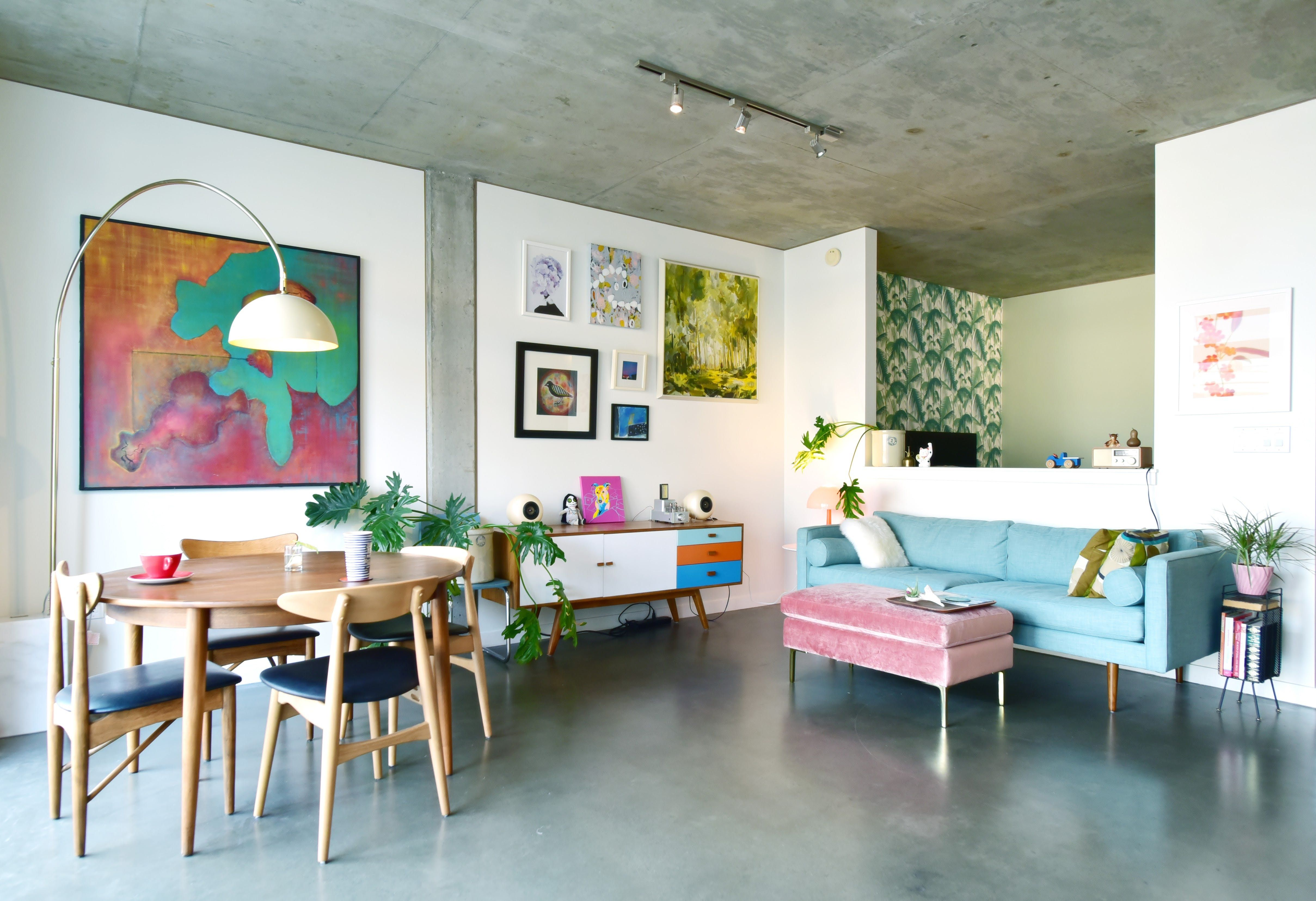 A Bubbly and Modern Seattle Condo Home decor, Home