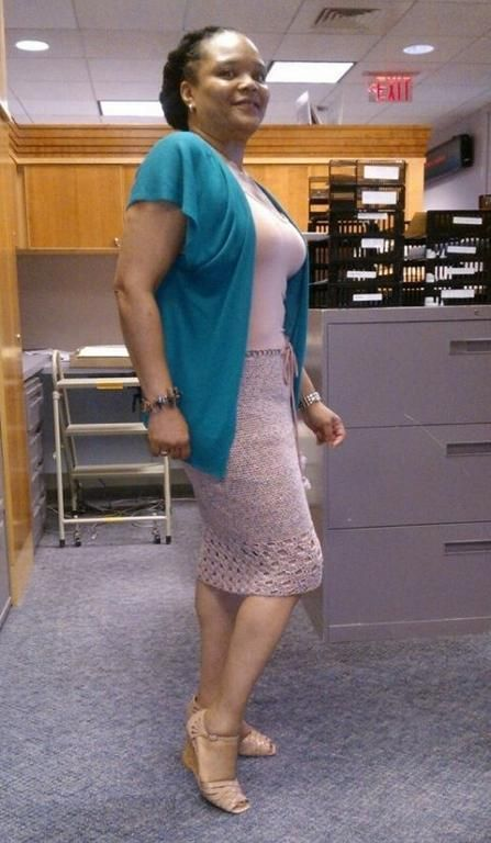 crocheted pencil skirt