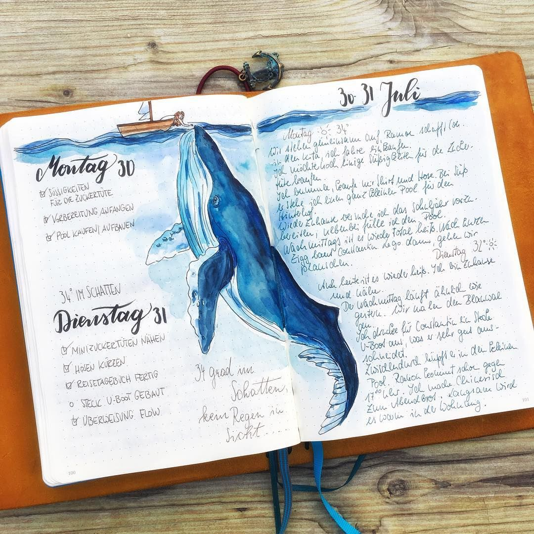 51 amazing ocean bullet journal layouts to delight you ...