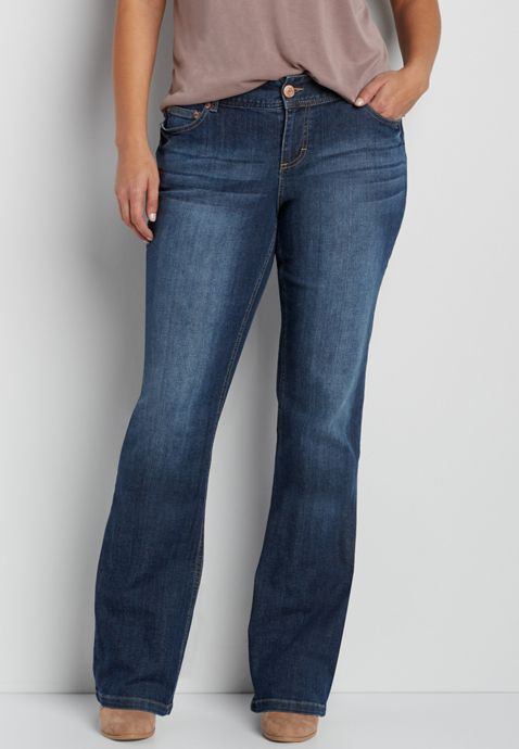 """55ad2a90f2a """"On my wish list  wishpinwinsweepstakes  discovermaurices."""")  plus size  Taylor bootcut jeans"""