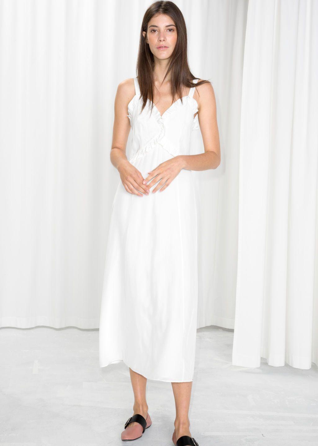 Sweetheart Ruffle Midi Dress Midi Ruffle Dress Dresses Midi Dress [ 1435 x 1025 Pixel ]