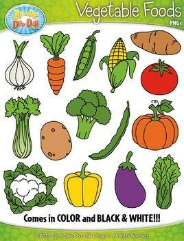 Vegetable Foods Clipart {Zip-A-Dee-Doo-Dah Designs}