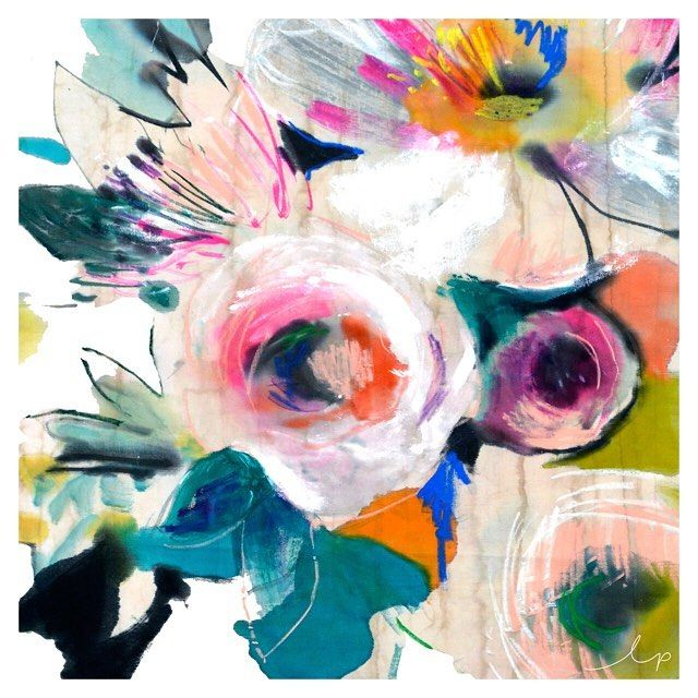Mix it up! Combining your media creates some unique results - like gouache, crayon, pencils and watercolour. Our designers use a different mix to create different effects, like in this design from our collection. #abstract #painting #floral #flowers #fashion #inspiration #prints #textiles #design #lpdloves