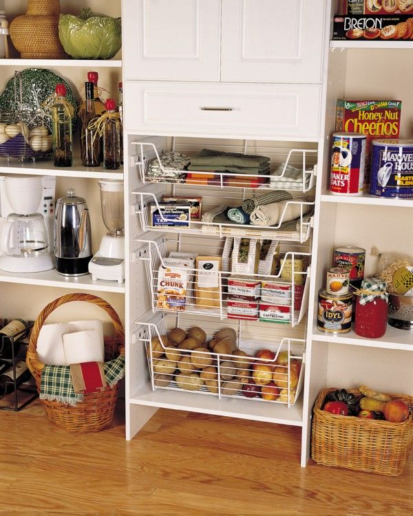Amazing Storage Baskets For Pantry With Slide Out Wire