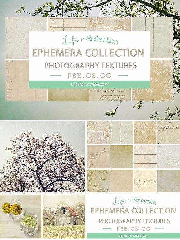 Ephemera Texture Collection Vol 4  Photoshop Textures