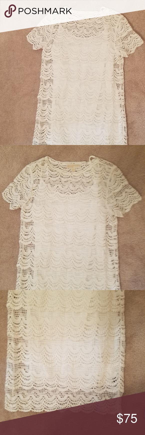 Michael Kors White Shift Dress White Shift Dresses White Lace Shift Dress Lace Shift Dress [ 1740 x 580 Pixel ]