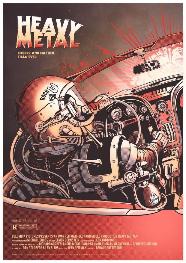 movie poster heavy metal by krzysztof