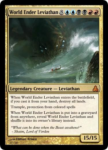 World Ender Leviathan By Ulyssesgrant Mtg Magic The