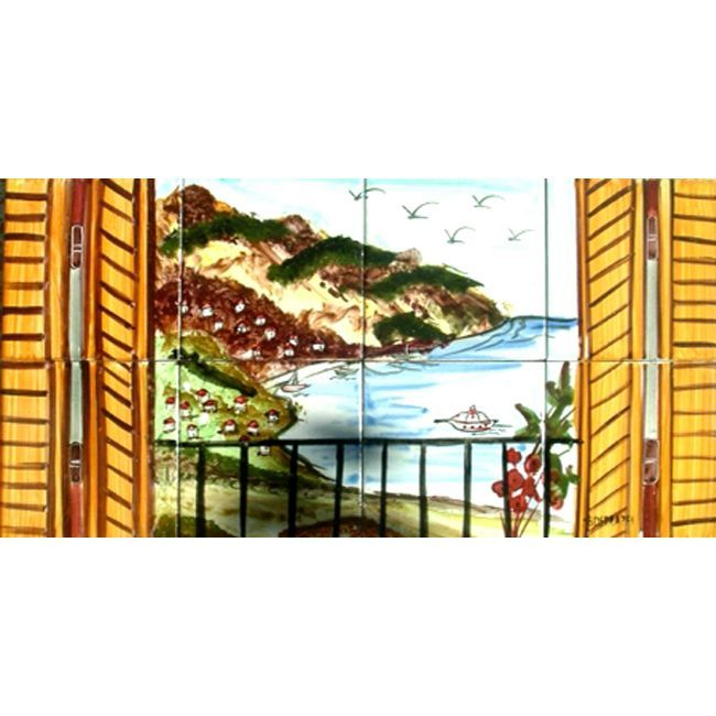 Arts Exotiques River View 8 tile Ceramic Wall Mural River View
