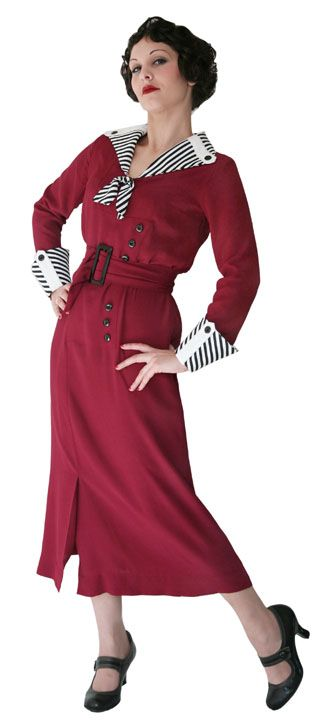 1930s-style. This dress would be perfect with pumps OR chunky boots and a headscarf.