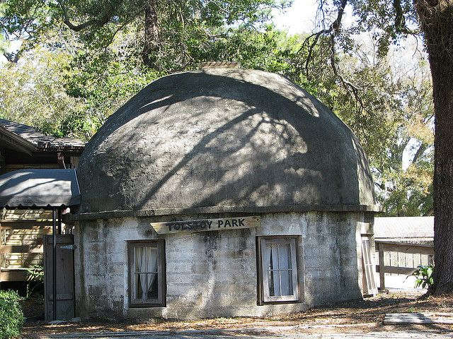 Cement Block House Of Fairhope Poet Cement House Dome House Cement