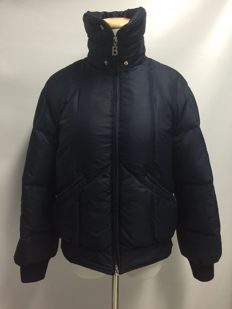 3a6dba25f32 BOGNER Women's Blue Goose Down Puffer Jacket Coat Zip Ski Size S | eBay