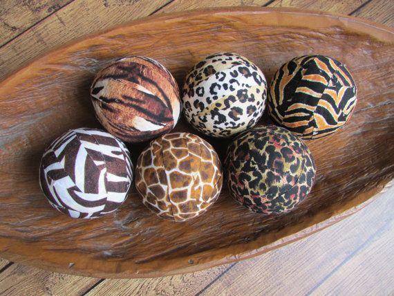 Decorative Balls For Bowl African Safari Decorative Fabric Rag Ballsset Of 62 Variations