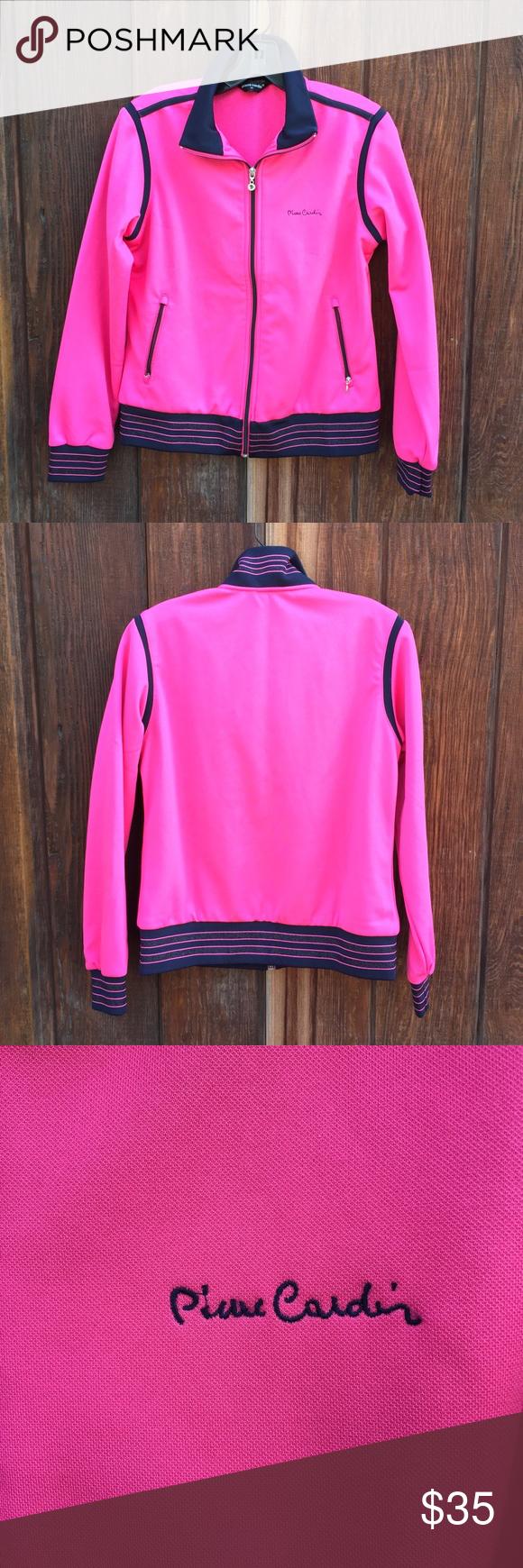 Pierre Cardin Track Jacket Fresh And Fancy Hot Pink Pierre Cardin Track Jacket Ready For Those Chilly Evenings Back I Track Jackets Jackets Gym Shorts Womens