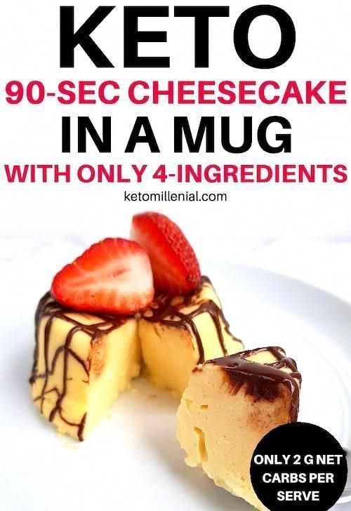 Crazy delicious keto cheesecake in a mug that�s ready in 2 minutes! This keto microwave cheesecake is so easy to make that it would be a sin not to try it ASAP! #KetoRecipes