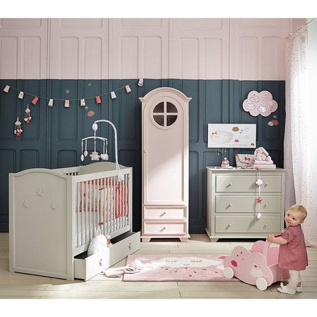 Chariot à jouets nuage en bois rose H 45 cm COQUETTE | Maisons du ...