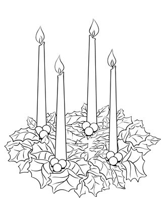 Click Advent Wreath Coloring Page For Printable Version
