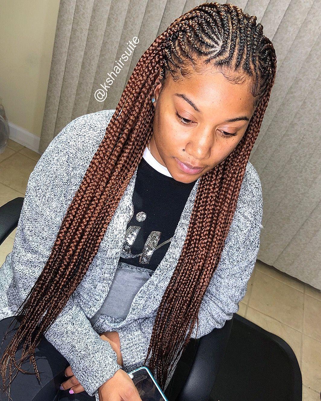 Box Braided Hairstyles For Black Women