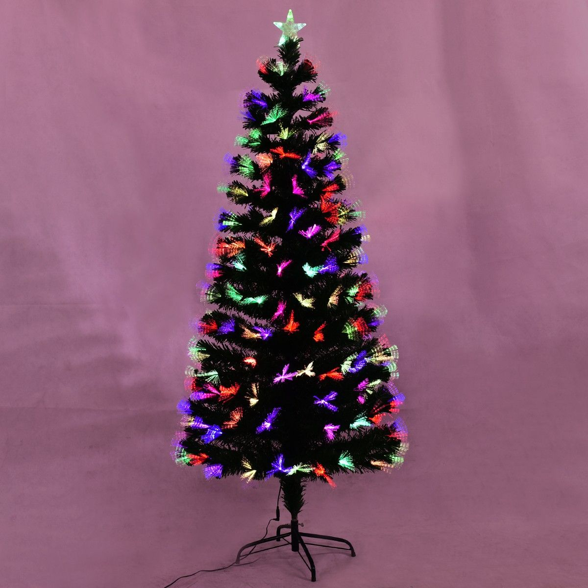 5b37d9578cd2 Costway LED Blossom Effects Large Fiber Optic Artificial Christmas Tree  This fiber optic #xmas tree with blossom effect extremely suits to decorate  your ...