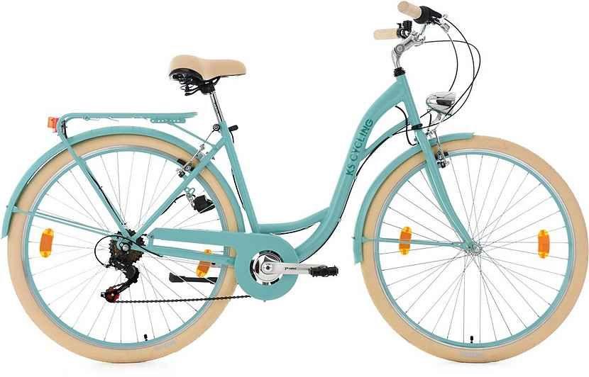 Ks Cycling Cityrad Balloon 6 Gang Shimano Tourney Rd Tz 50 Schaltwerk Kettenschaltung Online Kaufen Fahrrad Damen Rad Schutzblech