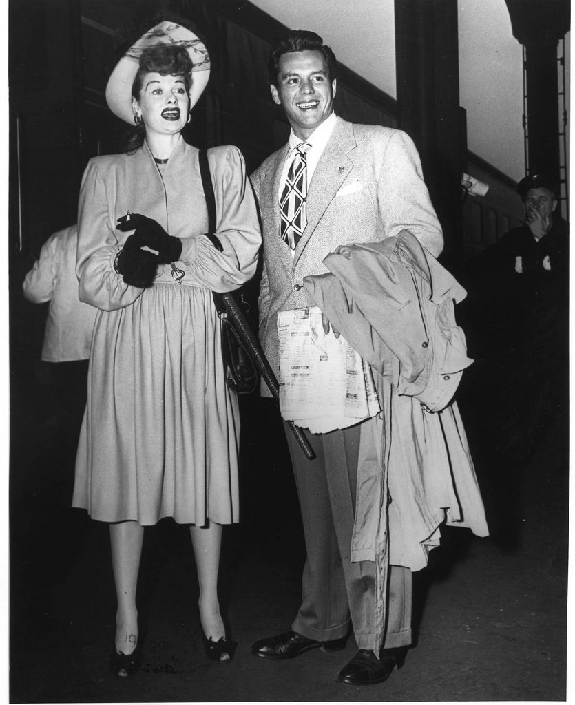 lucille ball & desi arnaz at the indian wells hotel near palm