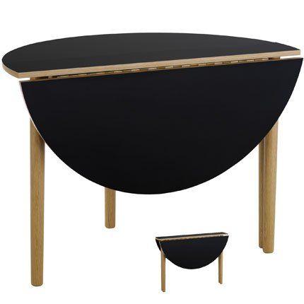 table ronde demi lune pliante