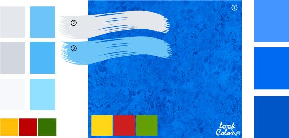 Синий цвет сочетание