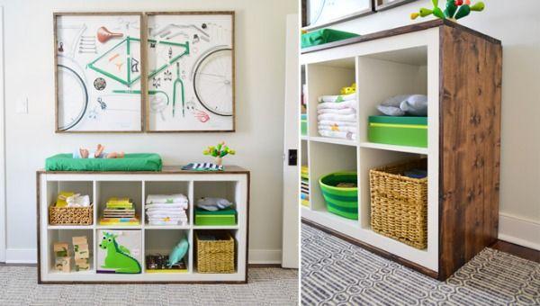 De lunes a domingo ideas para personalizar la estanter a kallax de ikea y transformarla en una Ikea estanterias ninos