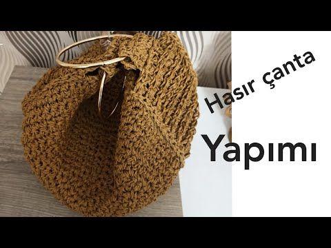 Çok istenilen örgü çanta modeli 💯 part /2 /çok keyifle kullacaksınız💓 /crochetbag - YouTube