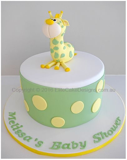 Baby Giraffe Baby Shower Cake Baby Shower Cake Designs Animal
