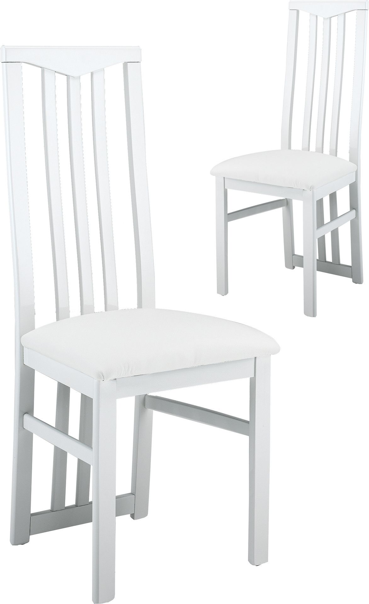 lot de 2 chaises blanches ultra design