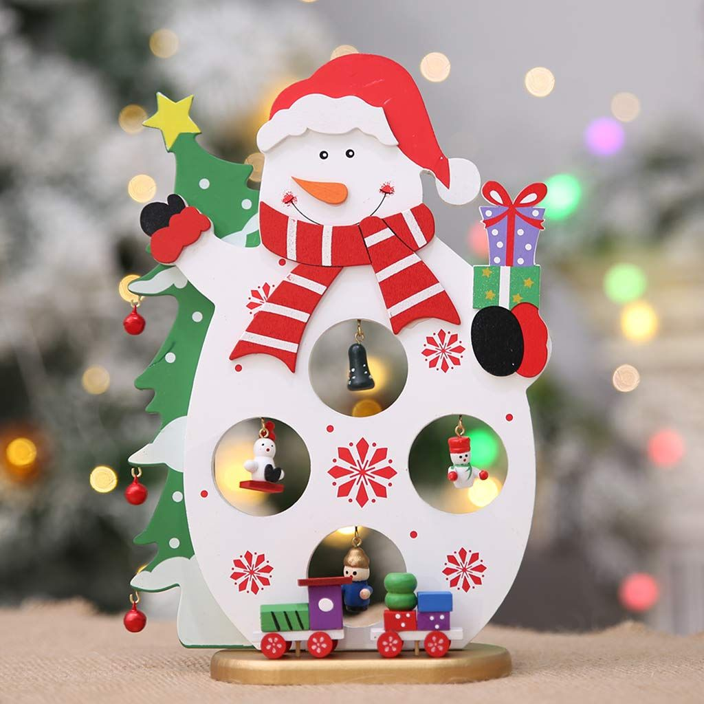 Kofun Diy Cartoon Wooden Christmas Decoration Ornament Table Decoration Whit Christmas Decorations Ornaments Christmas Decorations Wooden Christmas Decorations