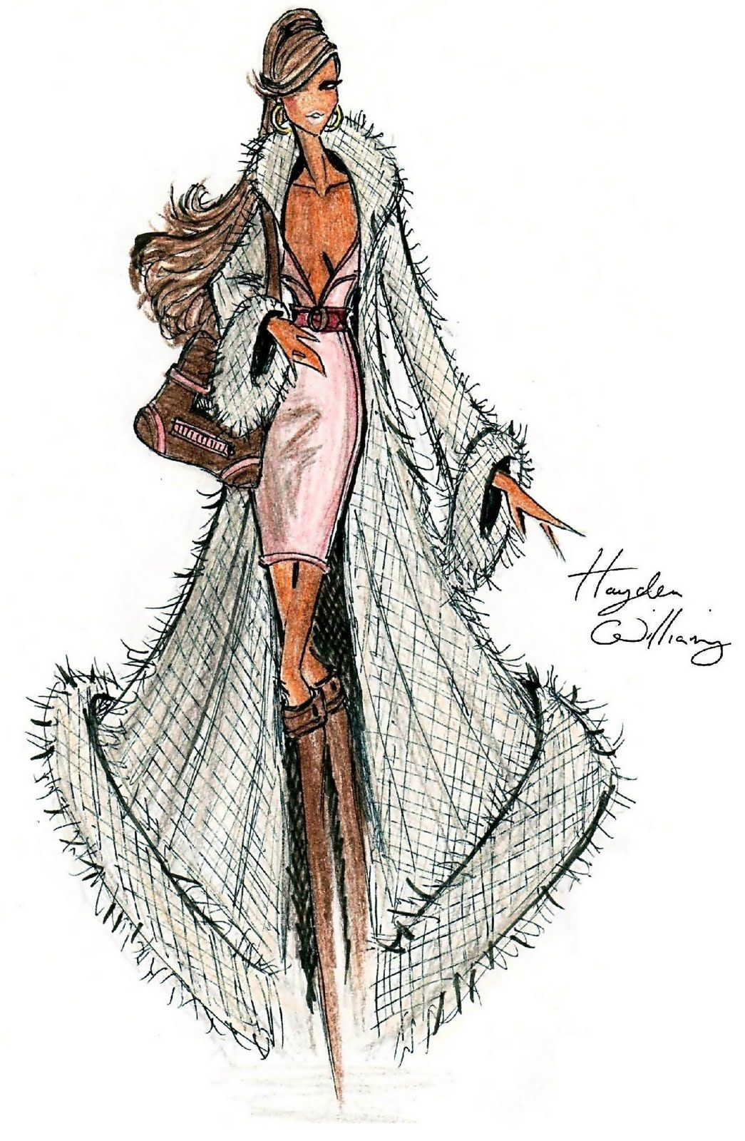 Hayden Williams Fashion Illustrations: Hayden Williams for Fashion Royalty: Cashmere Perfection!
