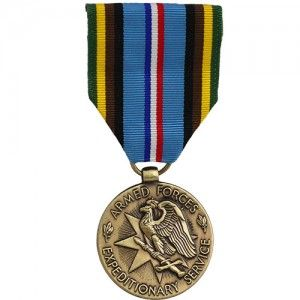 US Army Medals Armed Forces Expeditionary Medal Ribbon