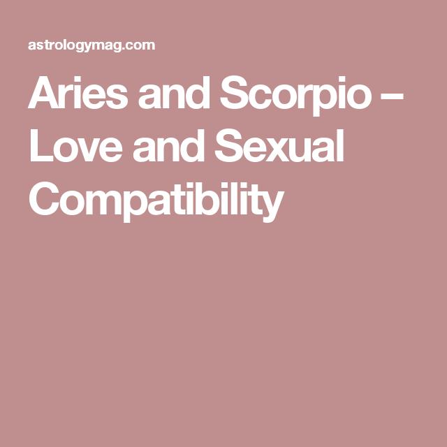 Sex compatabilty between scorpio and