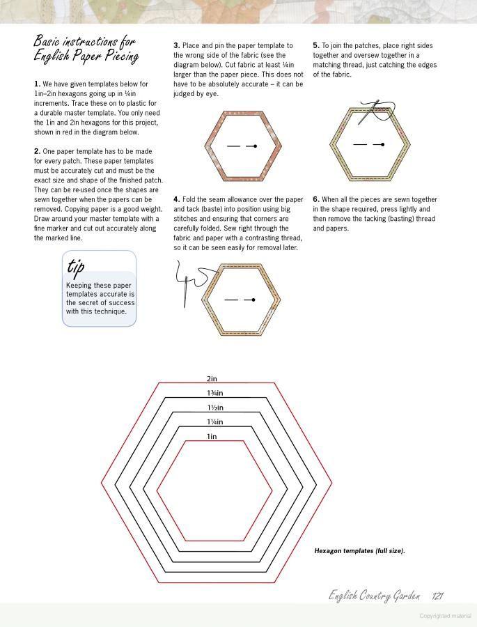 hexie template | Hexagons | Pinterest | Nähen und Nähideen