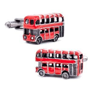 Tailor B London Bus Cufflinks Automotive Car British Double Decker Bus Gemelos