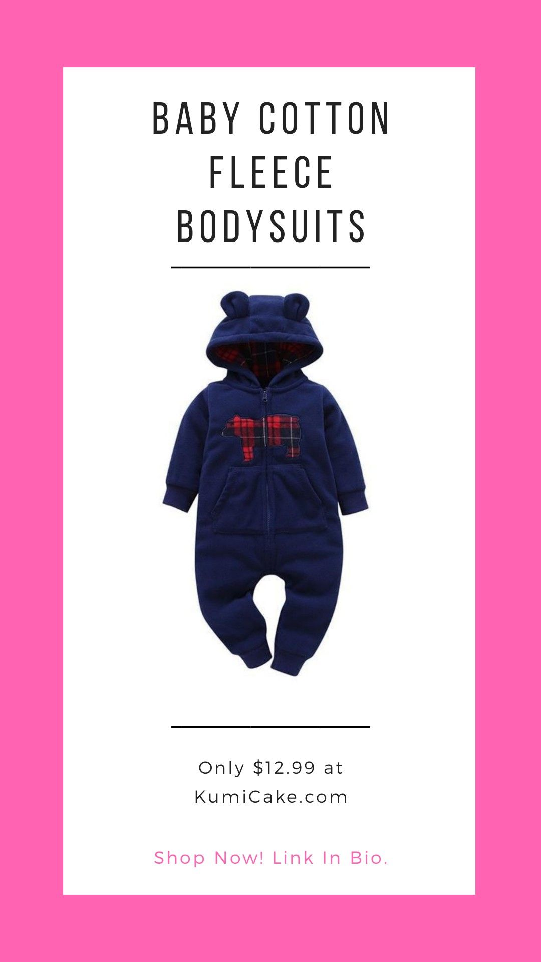 50382b0c0e8a Keep your little one perfectly warm and cozy in this adorable cotton fleece  jumpsuit! The