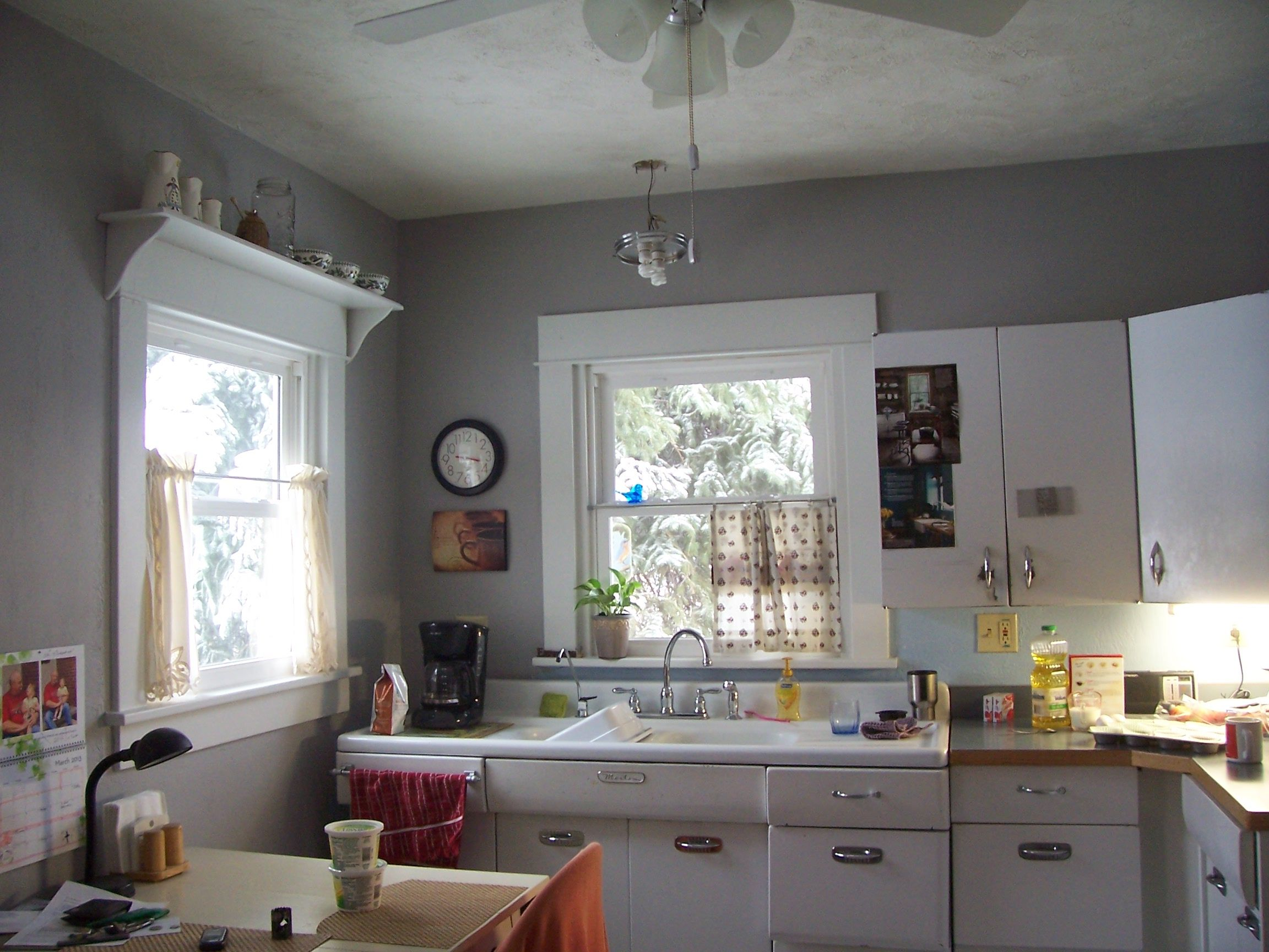painted kitchen cabinet remodel pic 5 this is after we painted it gray but the 1380